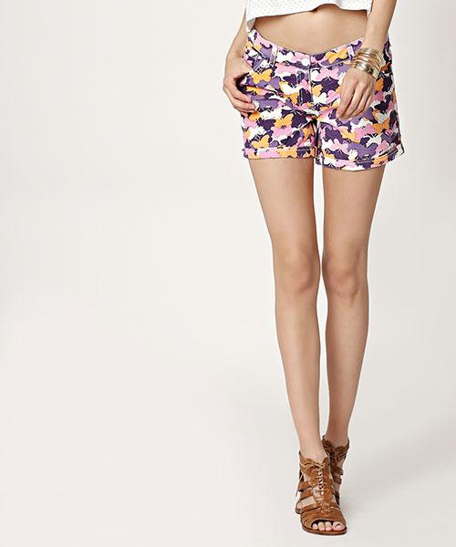 Yepme Karie Printed Shorts - Purple