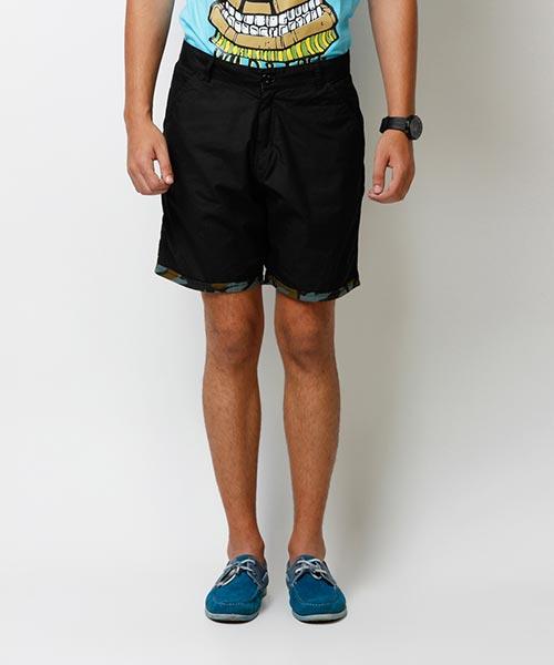 Yepme Denson Solid Shorts - Black