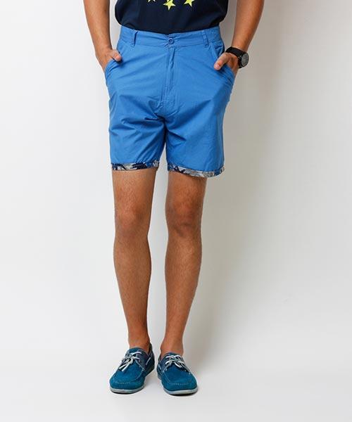 Yepme Denson Solid Shorts - Blue