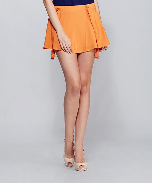 Yepme Georgia Suspender Skirt - Orange