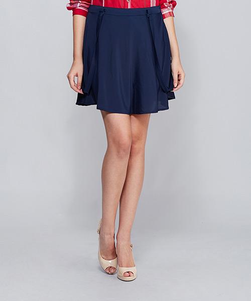 Yepme Lena Suspender Skirt - Blue