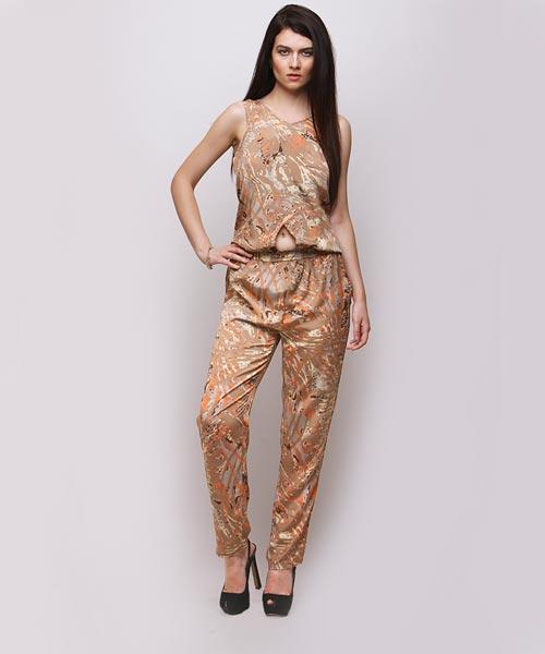 719ccc39eb31 Yepme Luiza Printed Jumpsuit - Brown   Orange