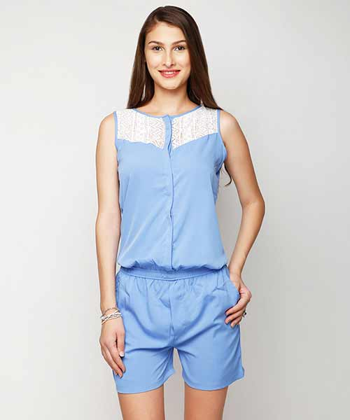 82145b48e1b3 Yepme Riley Lace Playsuit - Blue