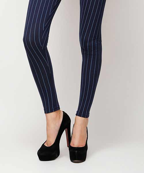 Yepme Olivia Stripes Leggings - Blue