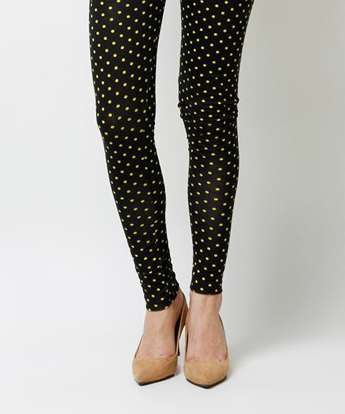 Yepme Olivia Printed Leggings - Black