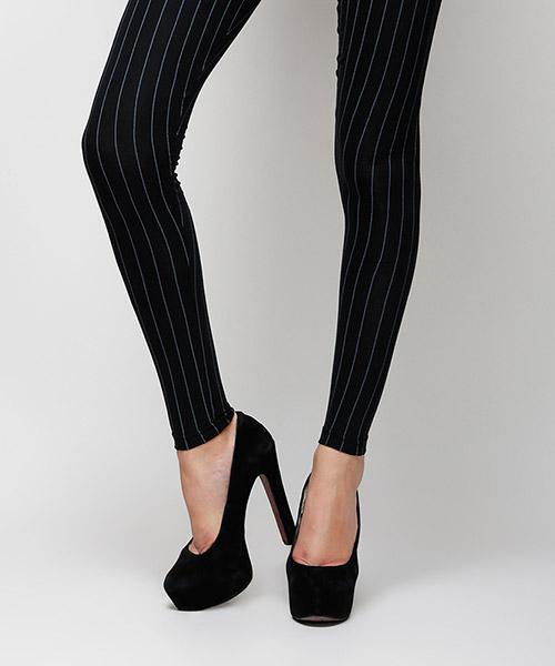 Yepme Olivia Stripes Leggings - Black