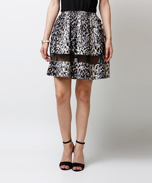 Yepme Arianny Sheer Midi Skirt - Black