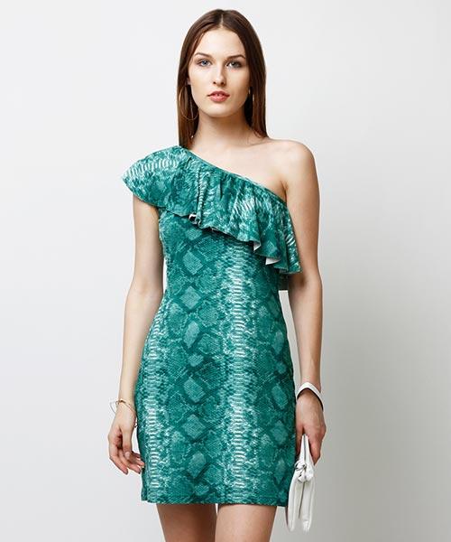 Yepme Scarlett One Shoulder Dress - Green