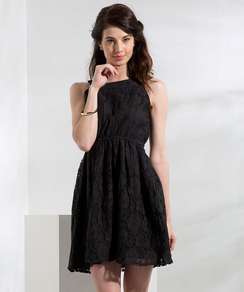 Yepme Eliza Lace Dress - Black