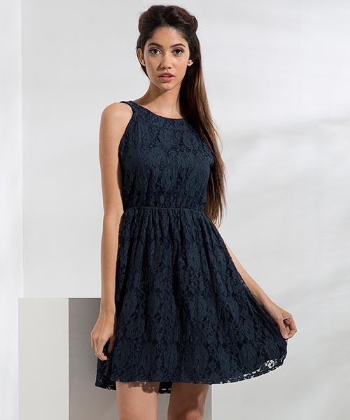 Yepme Fiona Lace Dress - Blue