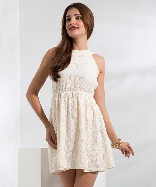 Yepme Eliza Lace Dress - White