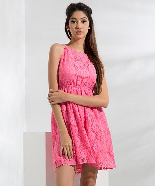 Yepme Eliza Lace Dress - Pink