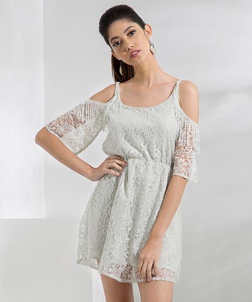 Yepme Fiona Lace Dress - Grey