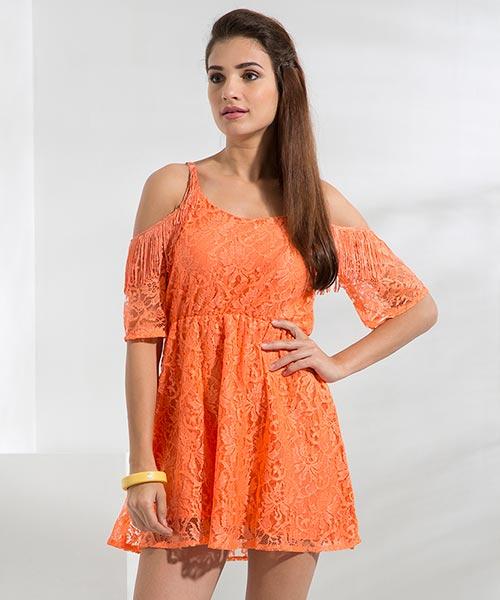 Yepme Fiona Lace Dress - Orange