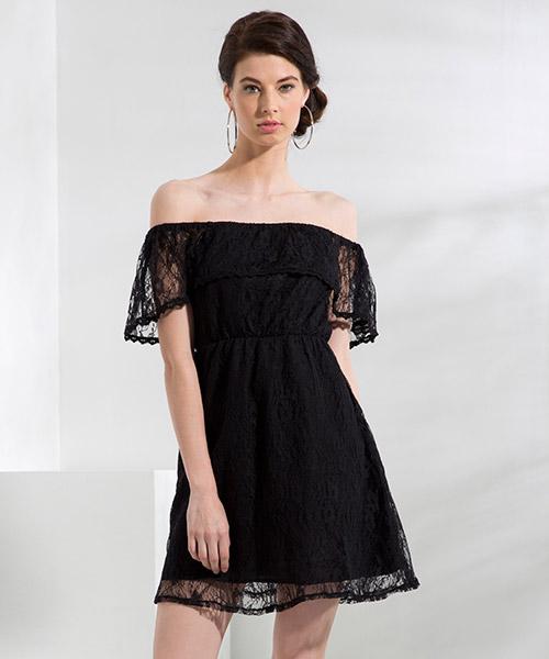 Yepme June Off-Shoulder Dress - Black