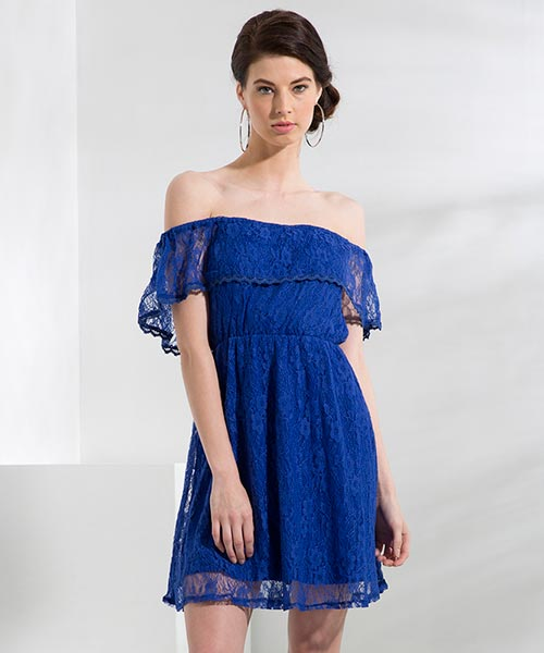 Yepme June Lace Dress - Blue