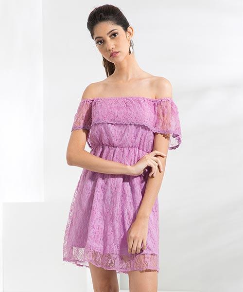 Yepme June Lace Dress - Lavender