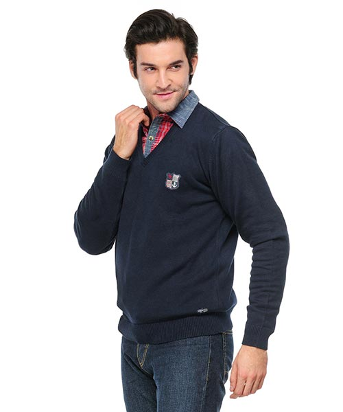 Yepme Denver Sweater - Navy Blue