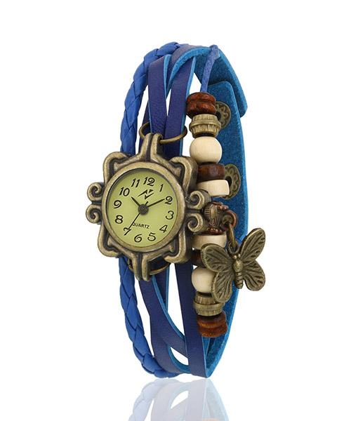 Yepme Women's Bracelet Watch - Cream/Blue