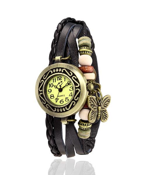 Yepme Women's Bracelet Watch - Cream/Black