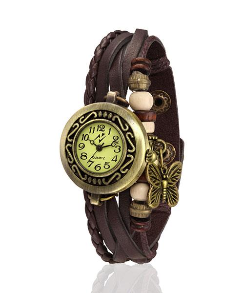 Yepme Women's Bracelet Watch - Cream/Brown
