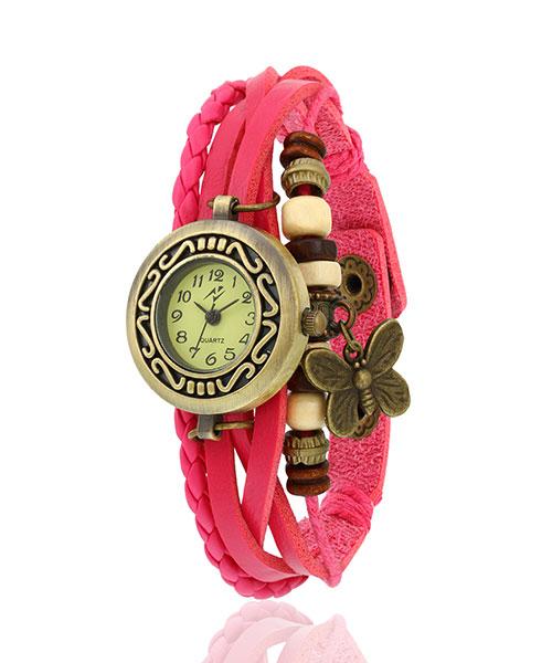 Yepme Women's Bracelet Watch - Cream/Pink