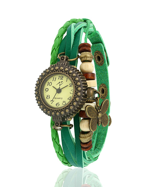Yepme Women's Bracelet Watch - Cream/Green