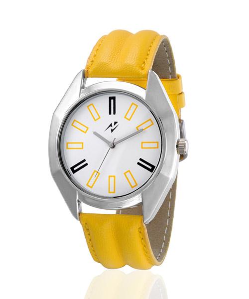 Yepme Tred Men's Watch - White/Yellow